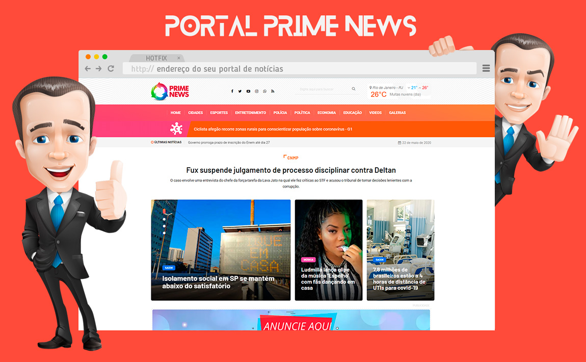Portal de Notícias Administrável Hotfix Press
