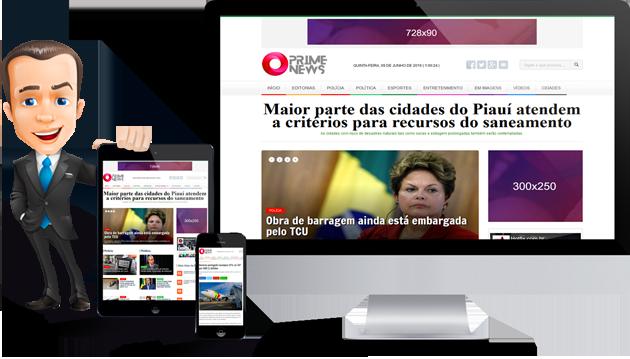 Portal de Notícias PHP Responsive